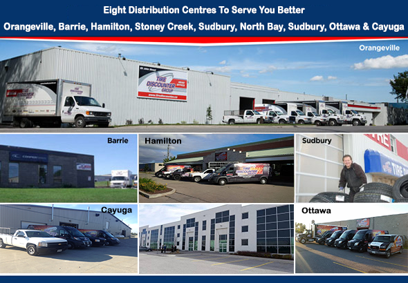 Five Distribution Centres - Tire Discounter Group